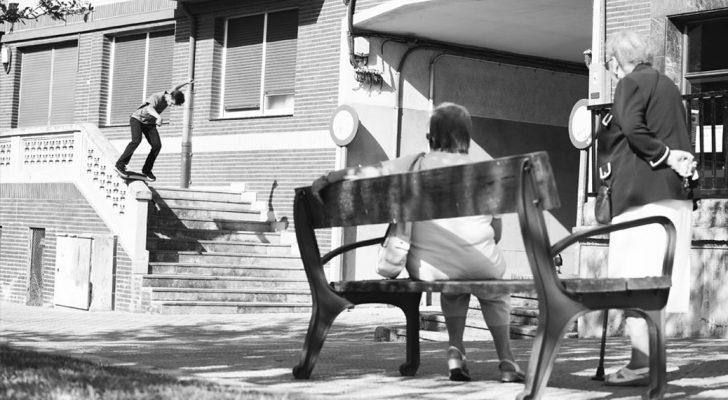 Fran Javaloyes Boardslide. Foto Patxi Pardiñas