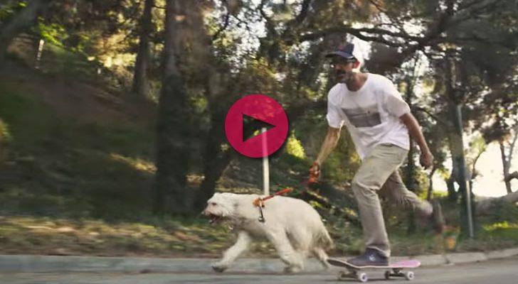 Mr. Sneaky ayudando a Jamie Tancowny en un clip de OJ Wheels