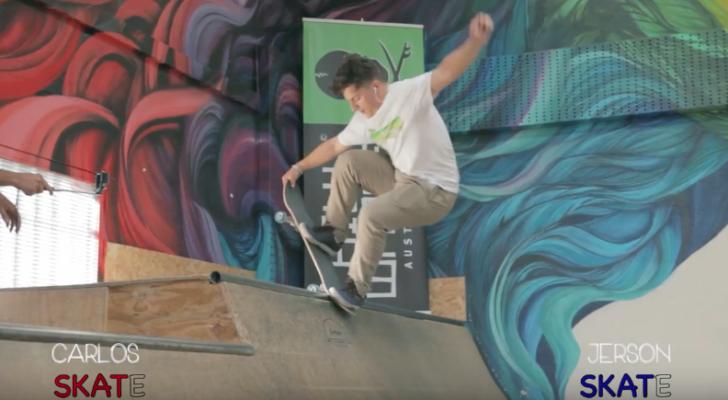 Clips del Game Of Skate en la mini de Hurricane