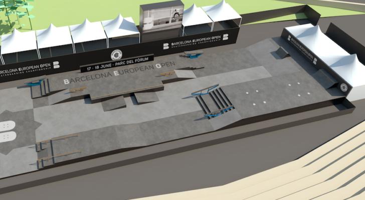Así será el skatepark del Barcelona European Open