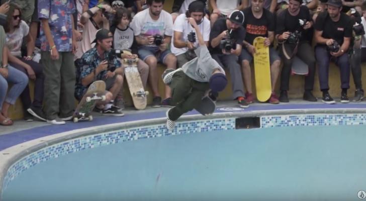 CJ Collins partiendo La Kantera en un clip de Volcom