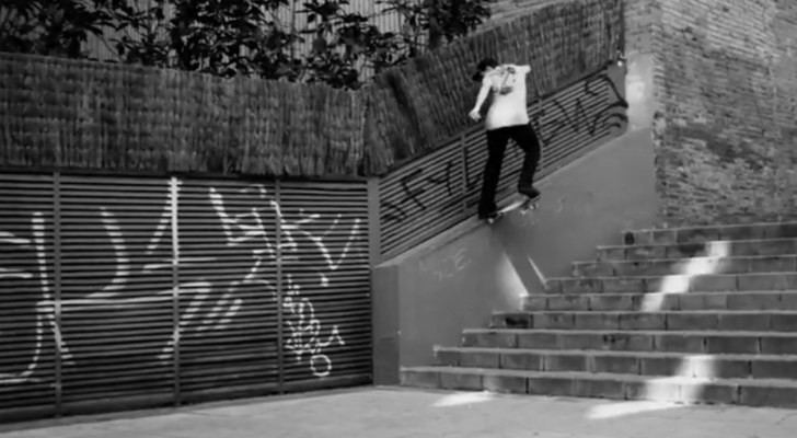 Un clip con Paul Hart patinando Barcelona