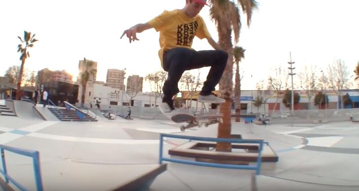 Cristian Vannella destrozando el Skate Agora