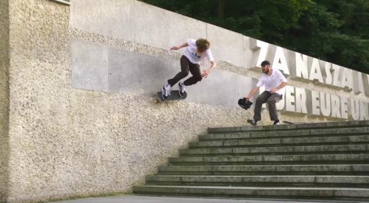 Clip con Pol Catena y el team adidas Skateboarding en Berlín