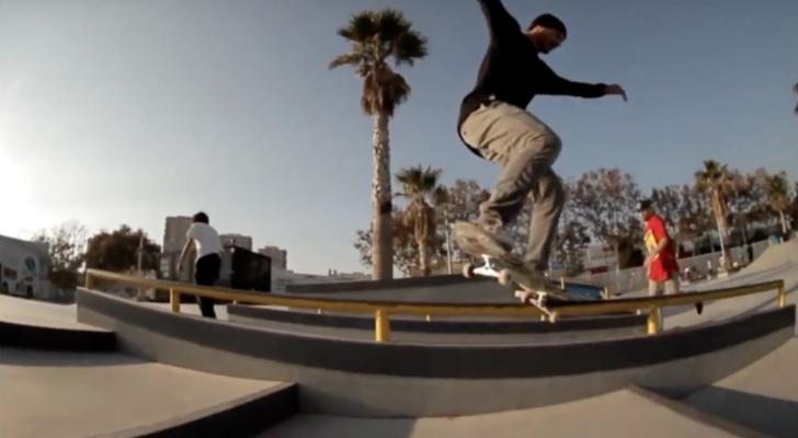 Cristian Sánchez y compañía en el Skate Agora