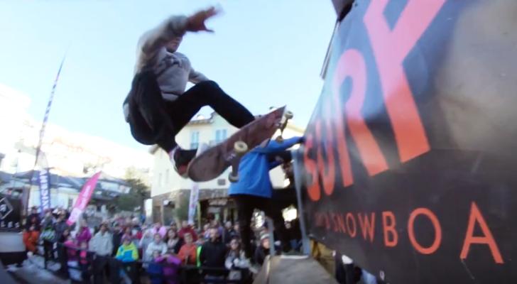 Clip del «Skate de Altura» 2017 desde Sierra Nevada