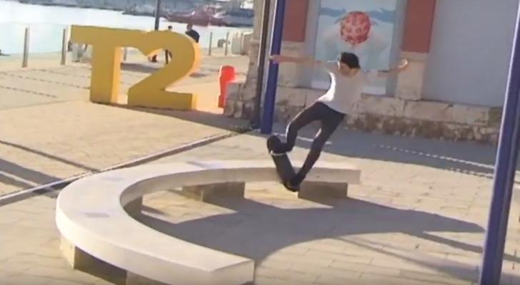 Parte de Carlos Fontanet y amigos en el vídeo de Fellaz Skateshop