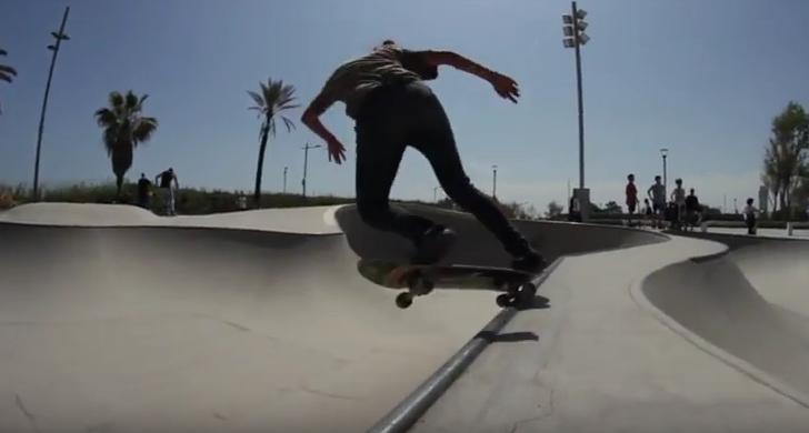 Clip con Daniela Molina en el skatepark de La Mar Bella