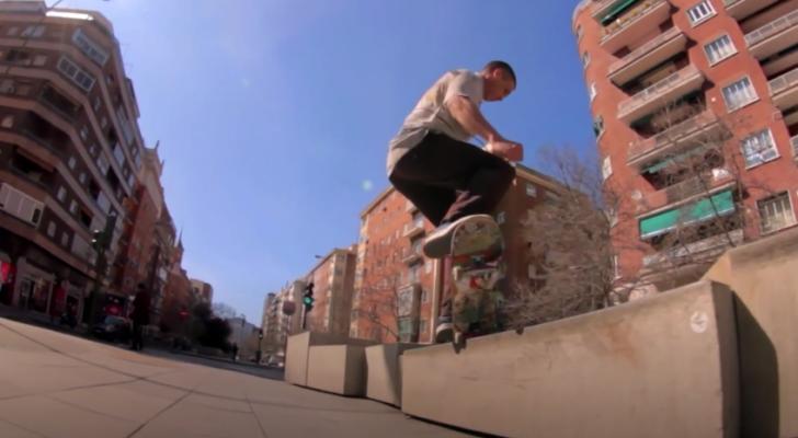 Parte completa del skater madrileño Alfon Fernández