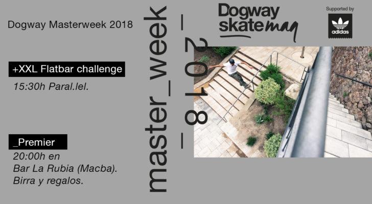 Premier en BCN del vídeo Masterweek 2018 y XXL Flatbar Challenge