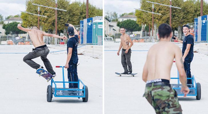 Andrés Castro k-grind. Olé Skateboards en Francia