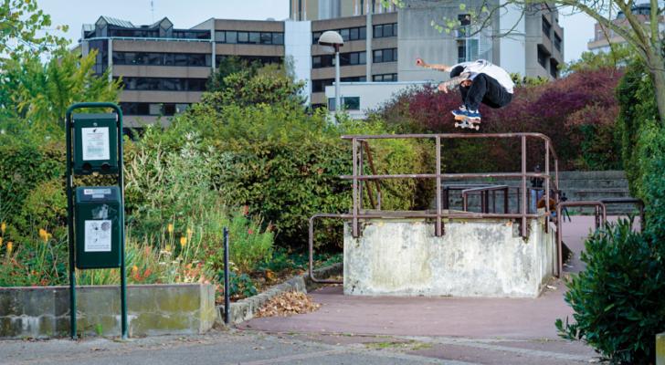 Clip de team Olé Skateboards para dar la bienvenida a Lino Haefeli