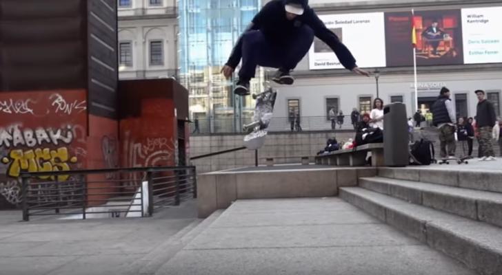 Sección de Popcorn en el vídeo Fiddy de Skate Jawn