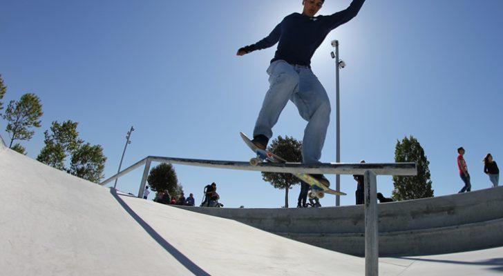 Vista al nuevo skatepark de Navia en Vigo