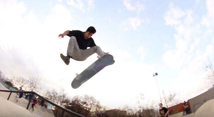 Un clip que nos muestra el nuevo skatepark de Rivas