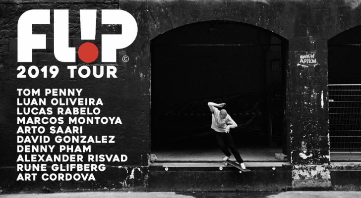 Info del tour por España del team Flip Skateboards