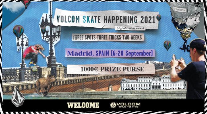 Patina 3 spots de Madrid y gana pasta con Volcom y Welcome